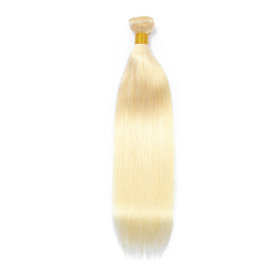 Hair Weave 3 Bundles Deal #613 Blonde Malaysian Human Hair Straight