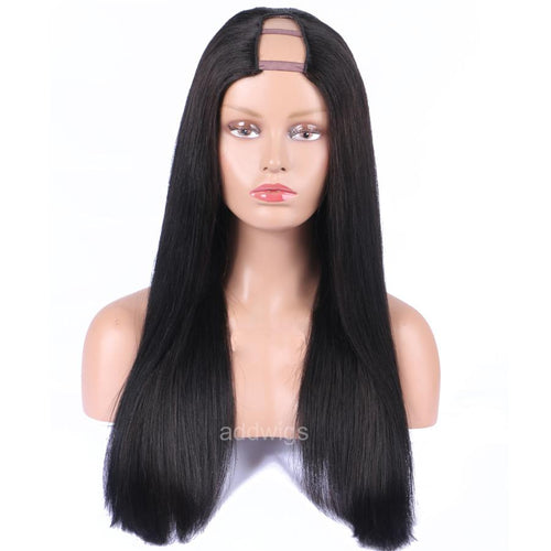 Silk Straight U Part Wig 130% Density Human Hair Wigs