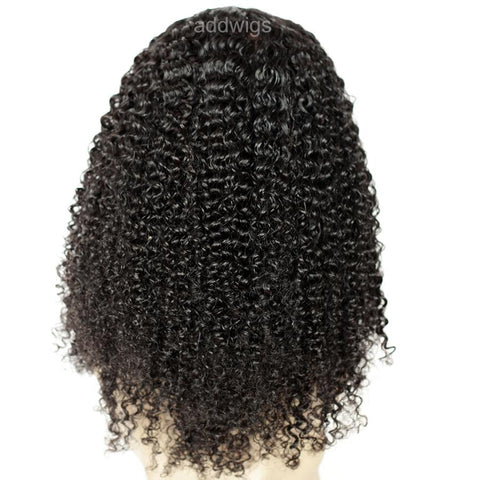 Afro Kinky Curl U Part Wig Middle Part 100% Human Hair Wig For Black Women