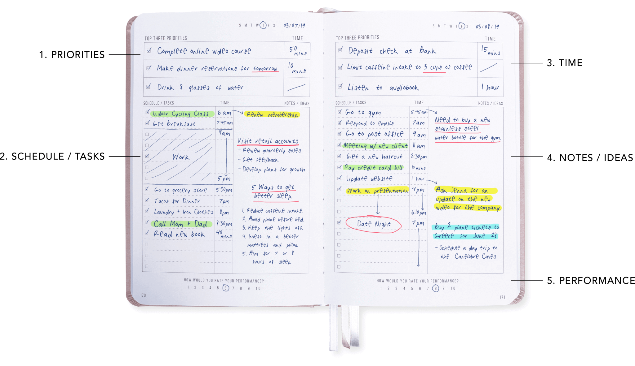 graphic relating to Daily Planner known as Lightspeed Planner (Rose Gold)