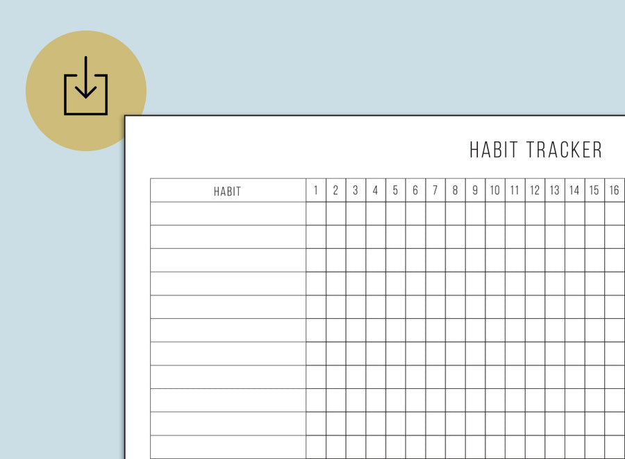 Habit Tracker (Printable)