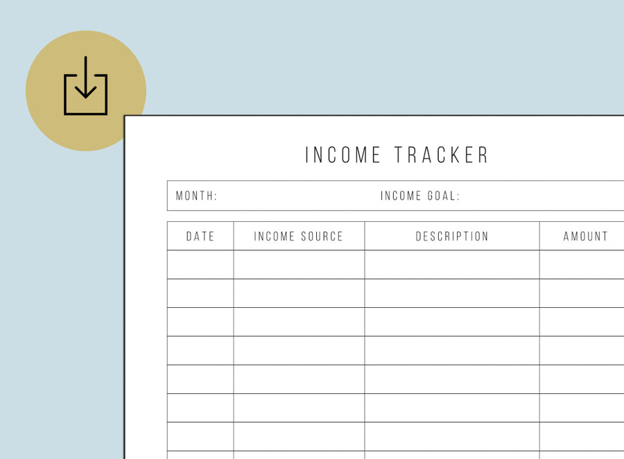photograph regarding Income Tracker Printable known as Printables Lightspeed Planner