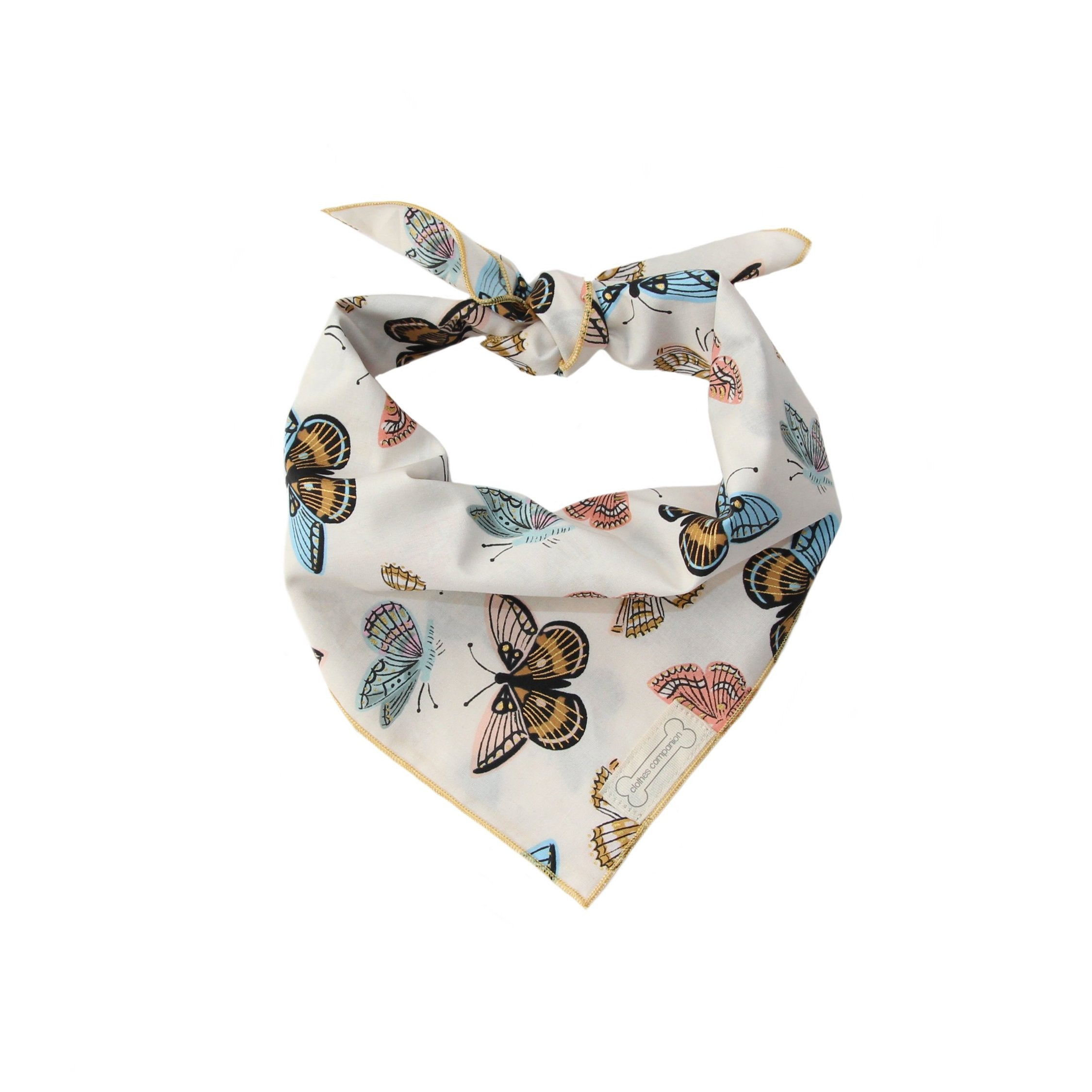 Clothes Companion California Sister  Butterfly  Classic Tie Dog Bandana