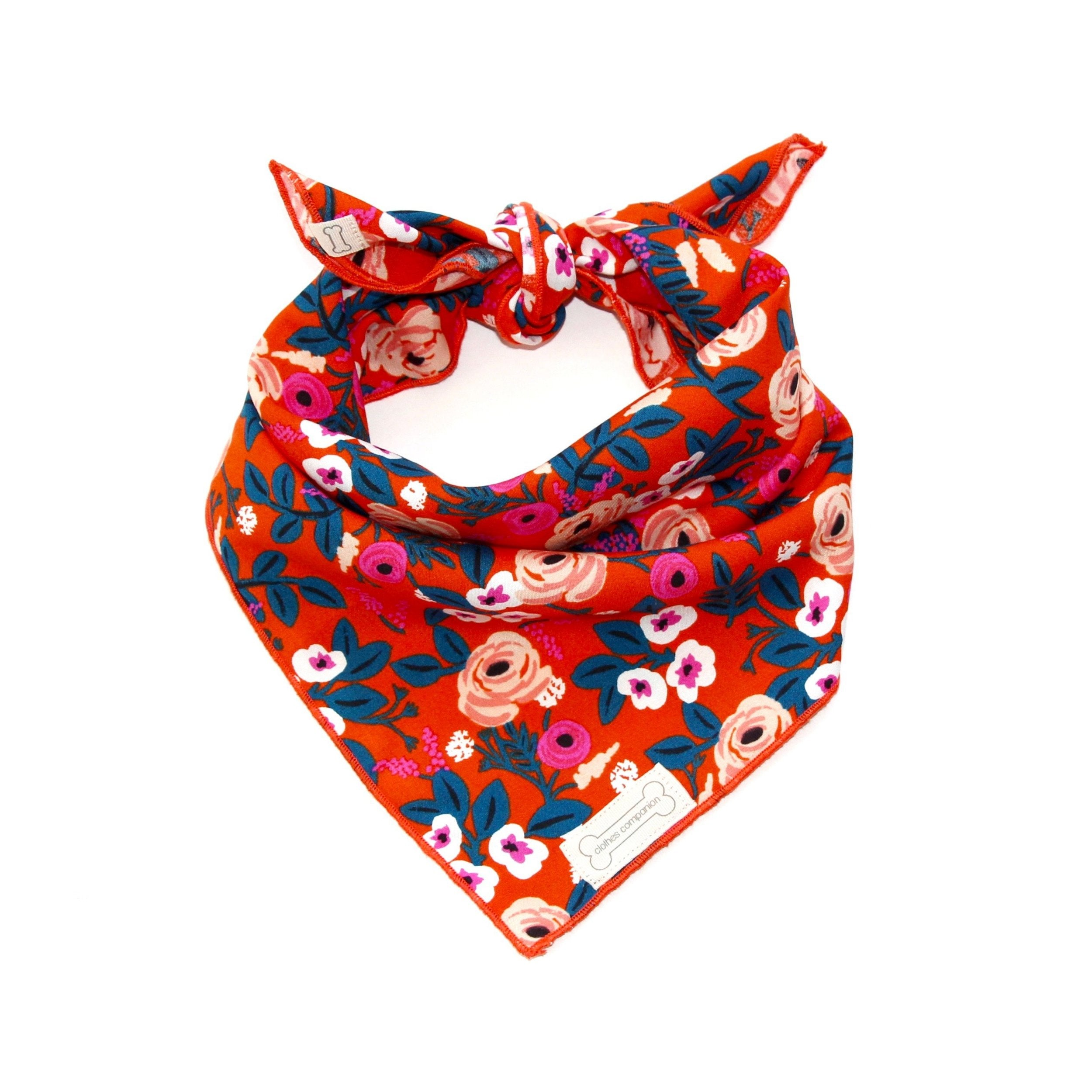 Clothes Companion Nina Classic-Tie Bandana for Dog Puppies and Pets
