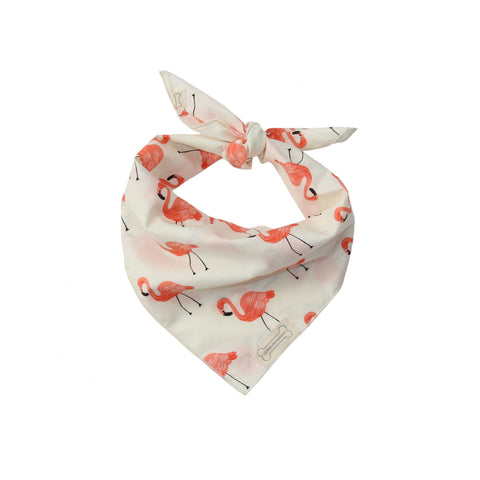 Clothes Companion Flamingo Classic Tie Dog Bandana