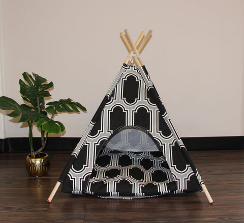 Black and Gray Pet Teepee Dog Teepee and Cat Teepee