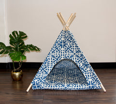 Blue Moroccan Pet Teepee Dog Teepee and Cat Teepee
