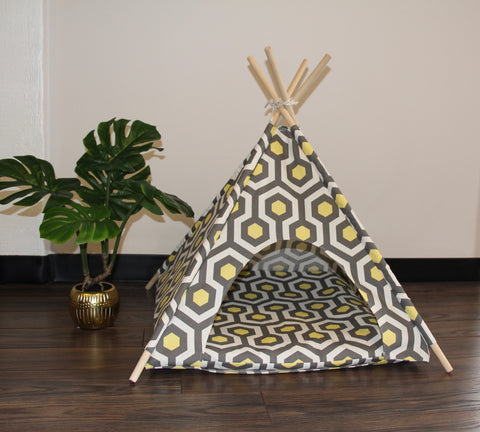 Hexagon Pet Teepee Dog Teepee and Cat Teepee