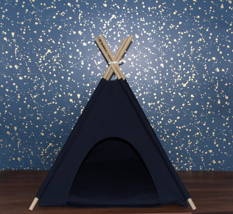 Navy Pet Teepee Dog Teepee and Cat Teepee