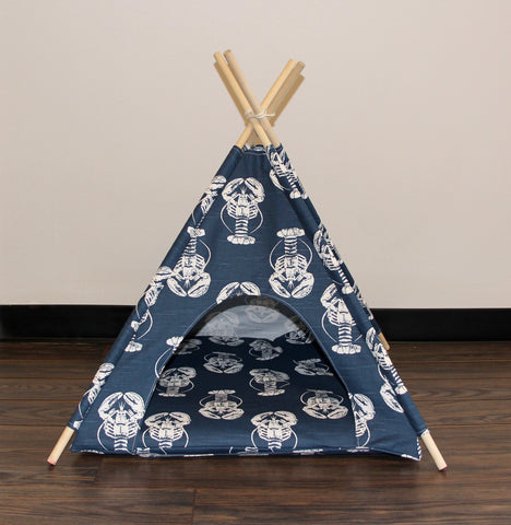 Rock Lobster Pet Teepee Dog Teepee and Cat Teepee