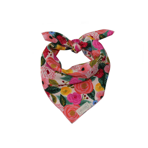 Clothes Companion Rose Classic Tie Dog Bandana