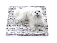 Clothes Companion Dog and Pet Faux Fur Blanket Crate Liner Dog Bed