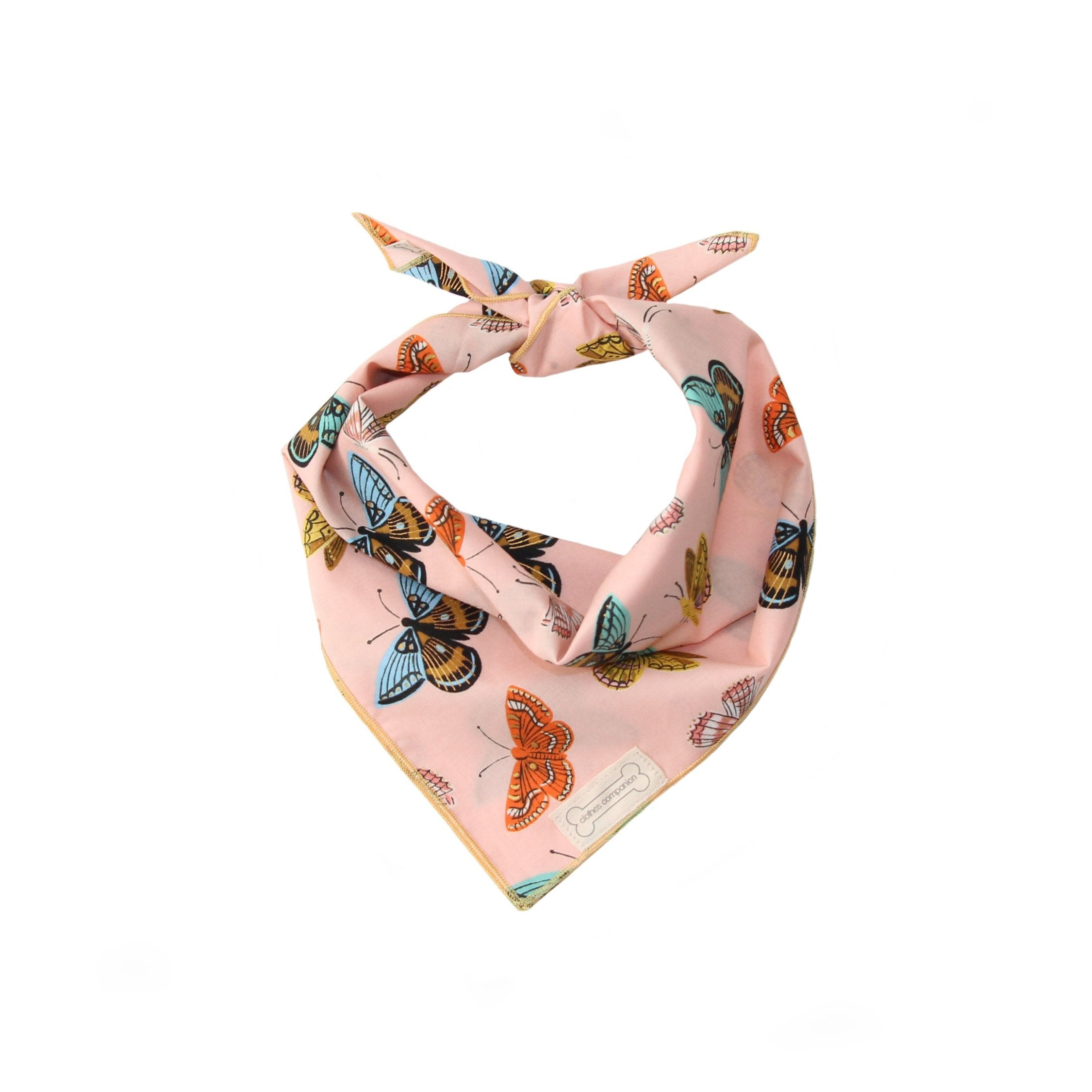 Clothes Companion Painted Lady Butterfly  Classic Tie Dog Bandana