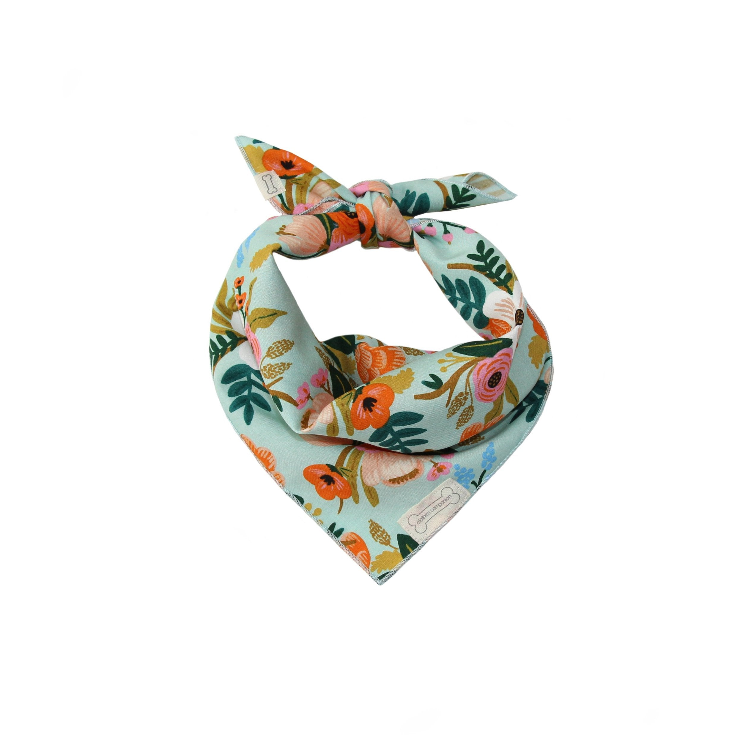 Clothes Companion The Poppy Classic Tie Dog Bandana