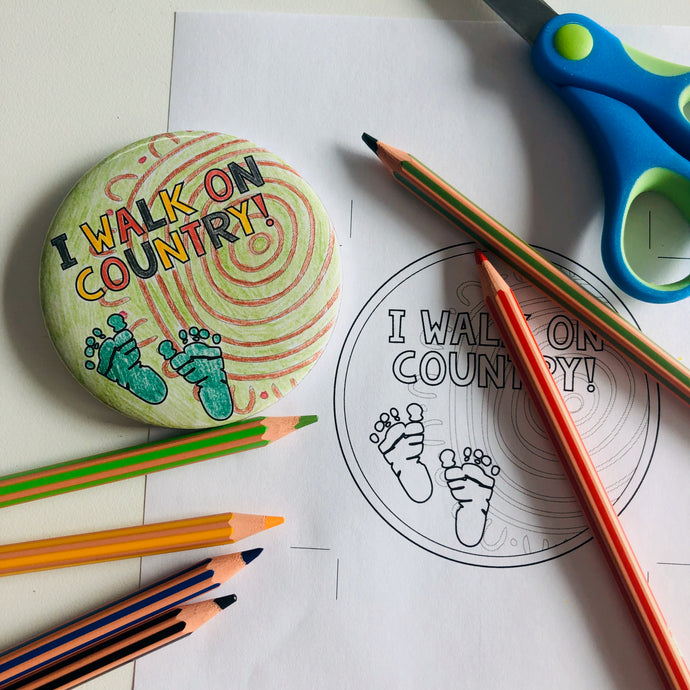 Walk to School Badge Colour-in Activity