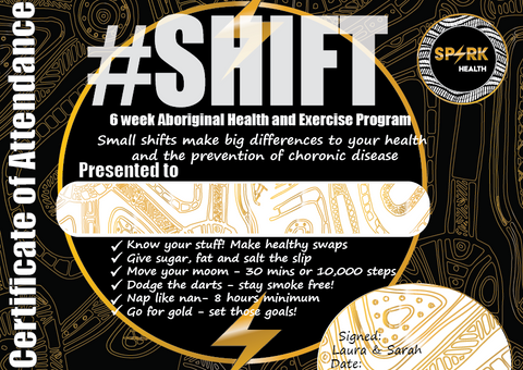 Shift Certificate Spark Health Aboriginal HEalth Promotion in the prison