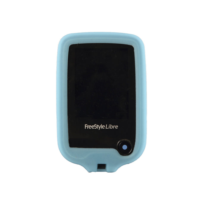 Freestyle Libre 1/2 Protective Silicone Gel Cover - Blue Gloskynz - GLOWS IN THE DARK!