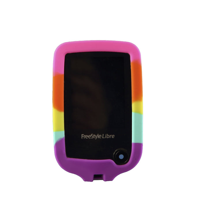 Freestyle Libre 1/2 Protective Silicone Gel Cover - Rainbow Libre Skynz