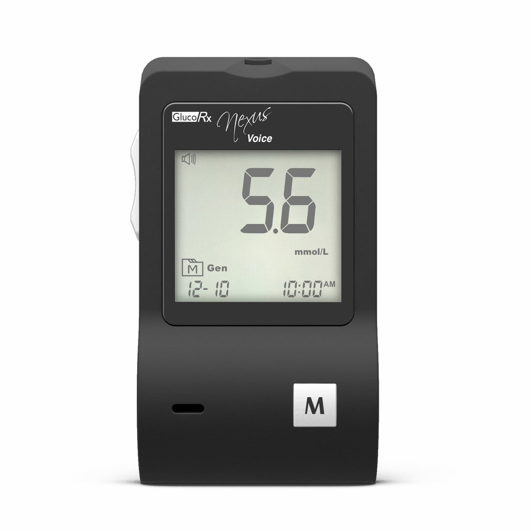 GlucoRx Nexus Voice TD-4280 Blood Glucose Monitoring System