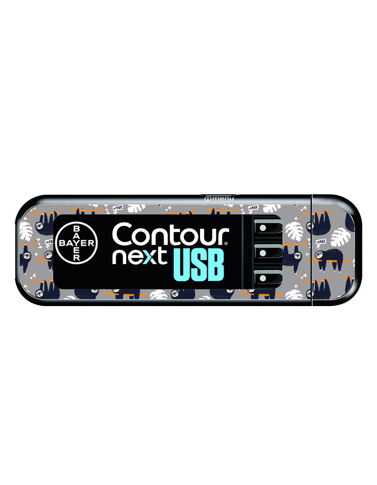 Bayer Contour Next USB Vinyl Sticker (Sloth Life)