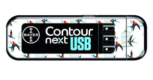 Bayer Contour Next USB Vinyl Sticker (Birdcage)