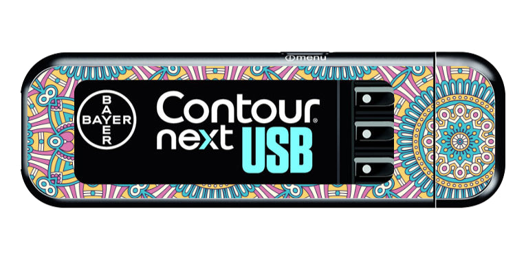 Bayer Contour Next USB Vinyl Sticker (Boho)