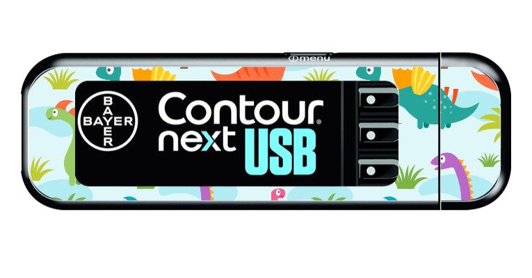 Bayer Contour Next USB Vinyl Sticker (Dinosaur)
