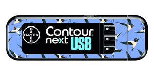Bayer Contour Next USB Vinyl Sticker (Swallows)