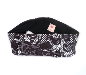 Black Lace Super Slim Pump Waist Band Pouch
