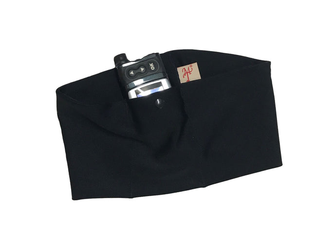 Black Pump Waist Band Pouch