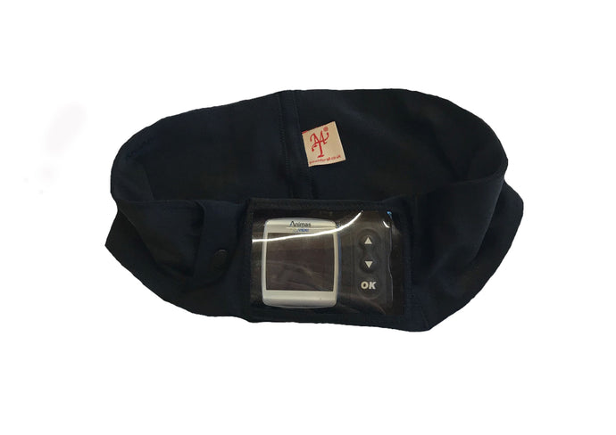 Black Super Slim Window Pump Waist Band Pouch