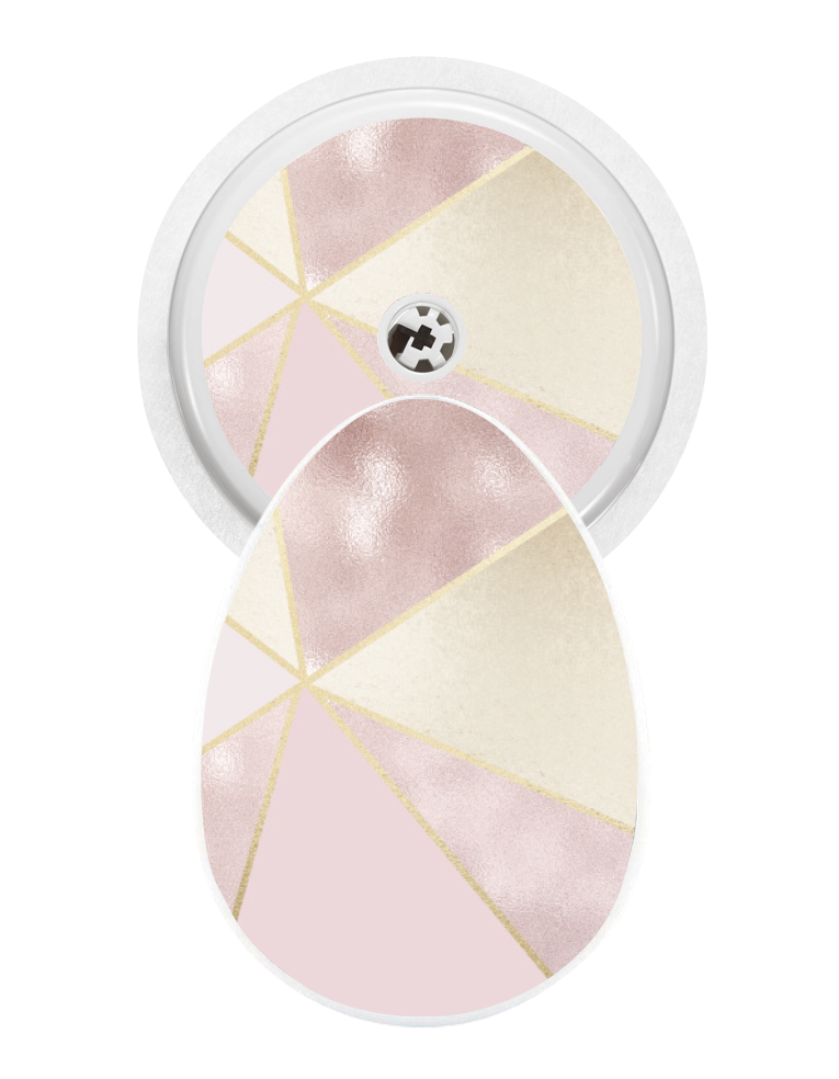 Bubble Sticker (Blush Geo)