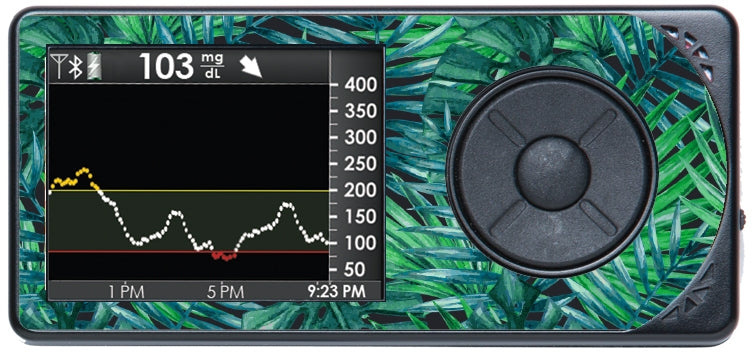 Dexcom Receiver Cover (Palm Leaves)