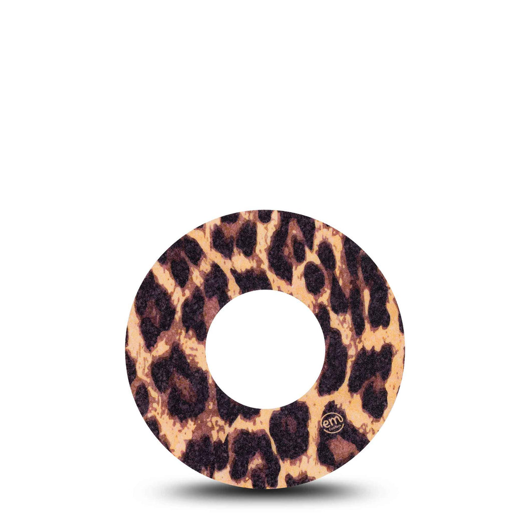 ExpressionMed Leopard Print Adhesive Patch Freestyle Libre 1/2