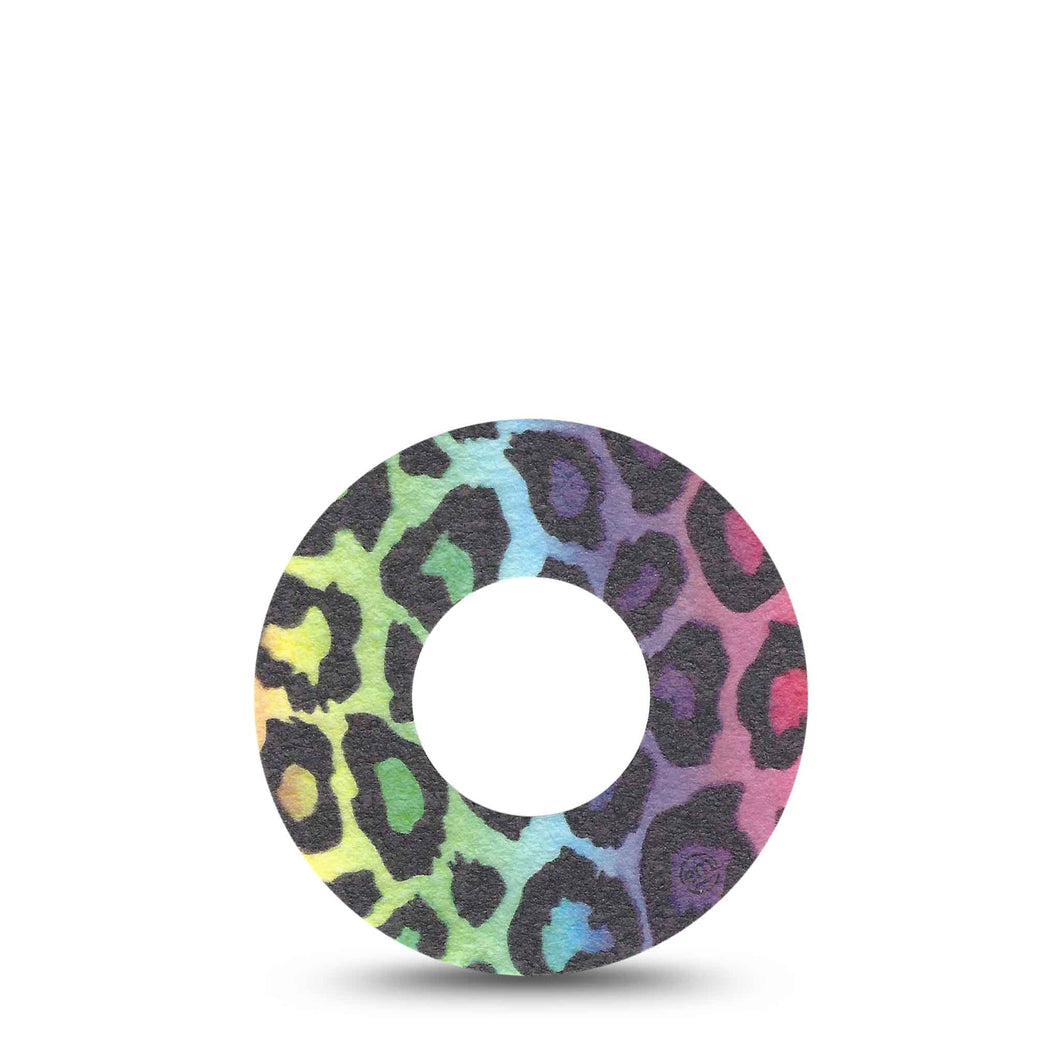 ExpressionMed Multicoloured Cheetah Adhesive Patch Freestyle Libre 1/2