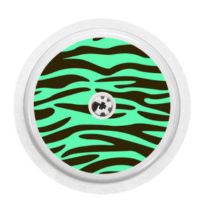 Freestyle Libre Sensor Cover (Mint Zebra)
