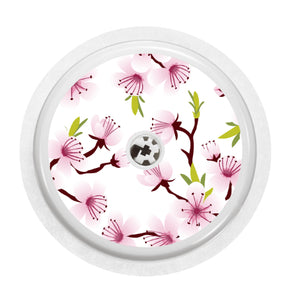 Freestyle Libre 1/2 Sensor Cover (White Cherry Blossom)
