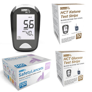 GlucoRX HCT Blood Glucose and Ketone Meter Starter Kit