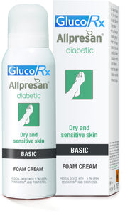 GlucoRx ALLPRESAN® DIABETIC FOAM CREAM BASIC 5% Urea Dry and sensitive skin 300ml
