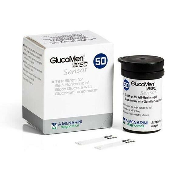 GlucoMen Areo Blood Glucose Test Strips - Pack of 50