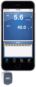 GlucoRx HCT Connect Blood Glucose & Ketone Meter Blood Glucose Monitoring System for Smartphone