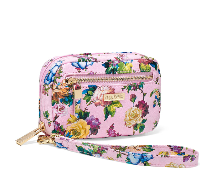 Myabetic James Diabetes Compact Case - Pink Multi Floral