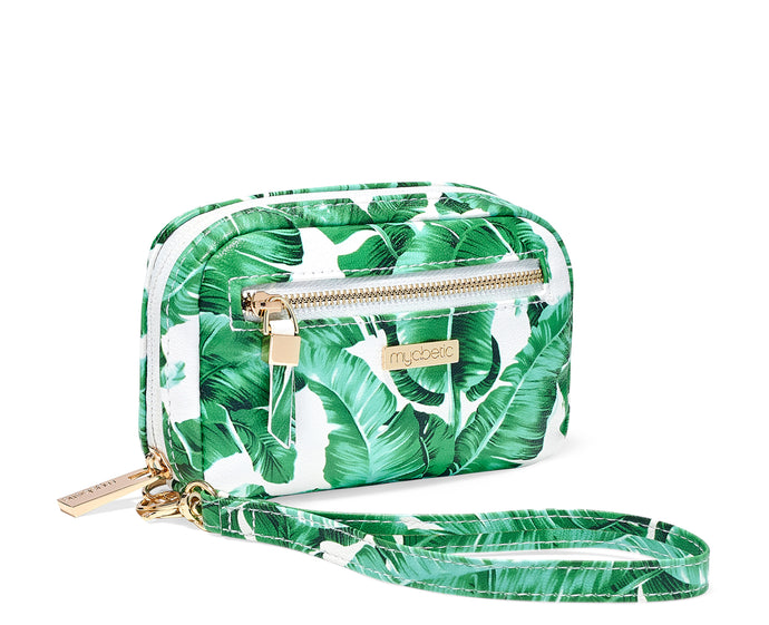 Myabetic James Diabetes Compact Case - Tropical Leaves