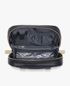 Myabetic Deluxe Diabetes Belt Bag - Black Leatherette