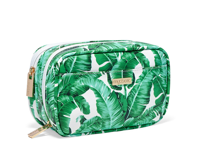 Myabetic Kamen Diabetes Compact Case - Tropical Leaves
