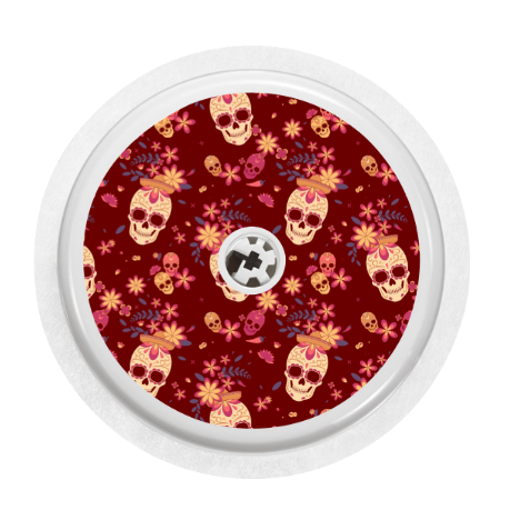 Freestyle Libre 1/2 Sensor Cover (Candy Skulls)