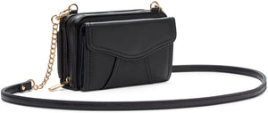 Myabetic Marie Crossbody - Black (Gold hardware)
