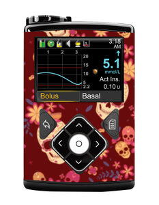 Medtronic 640/670G Cover (Candy Skulls)