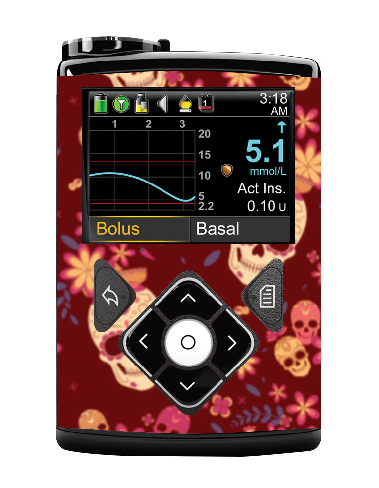 Medtronic 640G Cover (Candy Skulls)