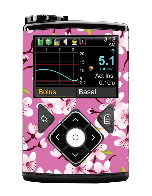 Medtronic 640/670G Cover (Cherry Blossom)